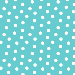Mini Dot Teal