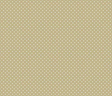 Pin Dot Khaki fabric by littlerhodydesign on Spoonflower - custom fabric