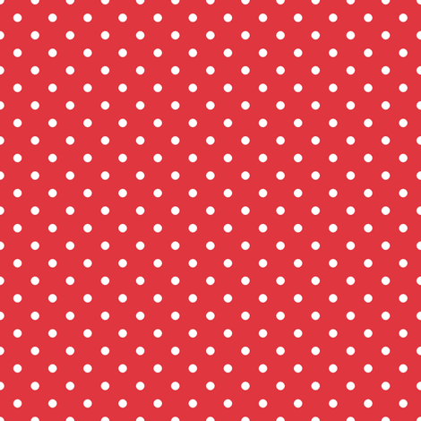 Pin Dot Red fabric by littlerhodydesign on Spoonflower - custom fabric
