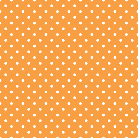 Pin Dot Tangerine fabric by littlerhodydesign on Spoonflower - custom fabric