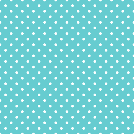 Pin Dot Teal fabric by littlerhodydesign on Spoonflower - custom fabric