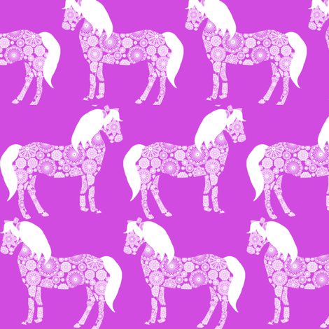 Lace NOLA Horses  fabric by natitys on Spoonflower - custom fabric