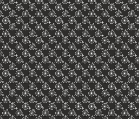 Big Wheel Black fabric by littlerhodydesign on Spoonflower - custom fabric