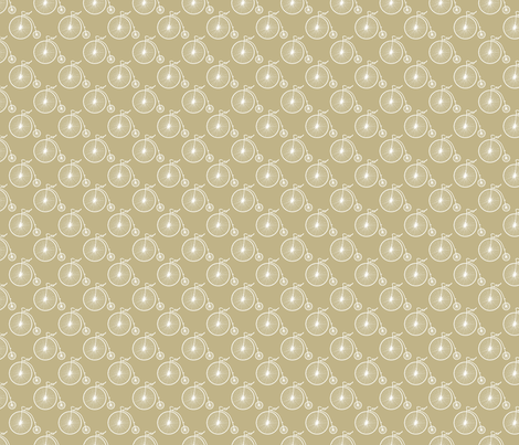Big Wheel Khaki fabric by littlerhodydesign on Spoonflower - custom fabric