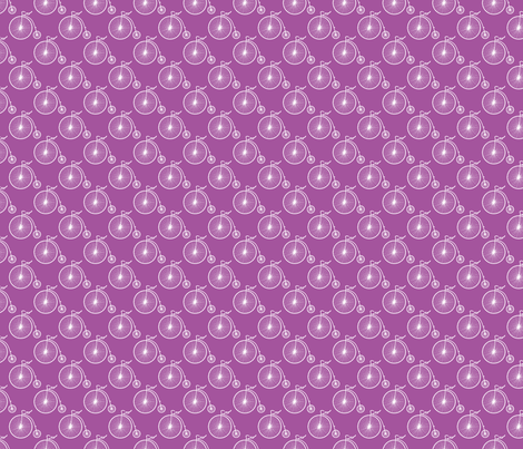 Big Wheel Plum fabric by littlerhodydesign on Spoonflower - custom fabric
