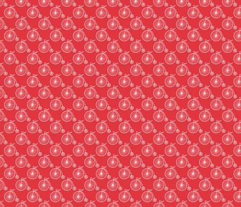 Big Wheel Red fabric by littlerhodydesign on Spoonflower - custom fabric