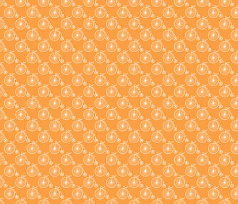 Big Wheel Tangerine fabric by littlerhodydesign on Spoonflower - custom fabric