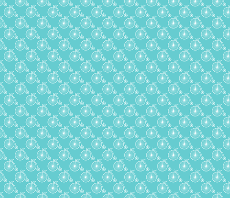 Big Wheel Teal fabric by littlerhodydesign on Spoonflower - custom fabric