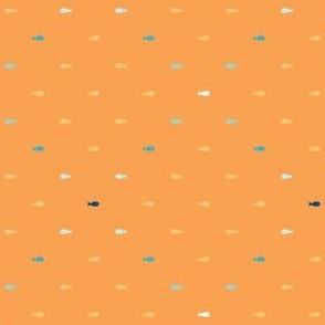 Under the Water - mini fish criss cross orange