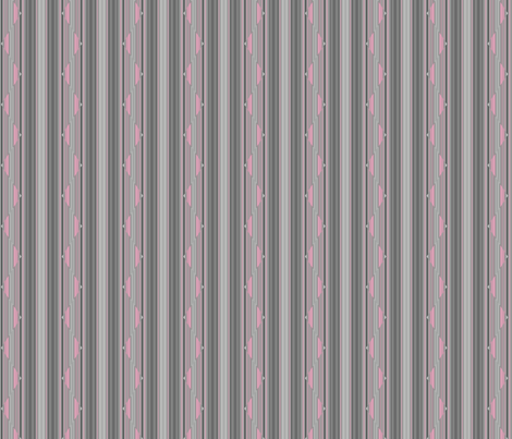 Pink on Grey Zigzag Stripe © Gingezel™ 2013 fabric by gingezel on Spoonflower - custom fabric