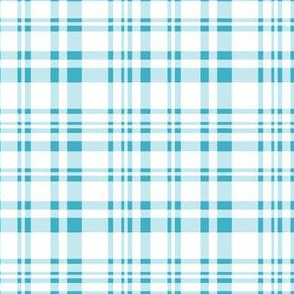 Under the Water - plaid blue