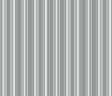 Pale Grey Stripe on Midtone © Gingezel™ 2013 fabric by gingezel on Spoonflower - custom fabric