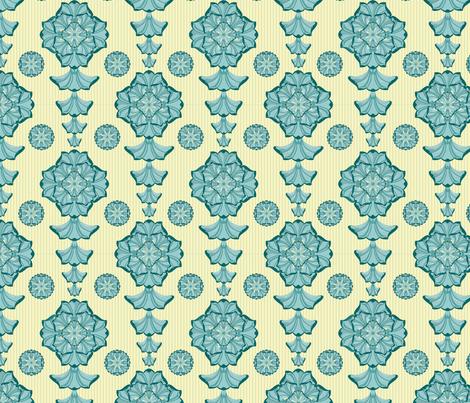 glorius_damask - sunny day fabric by glimmericks on Spoonflower - custom fabric