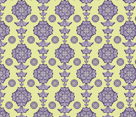 glorius_damask_spring_fresh fabric by glimmericks on Spoonflower - custom fabric