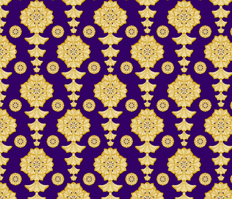 glorius_damask_papal fabric by glimmericks on Spoonflower - custom fabric