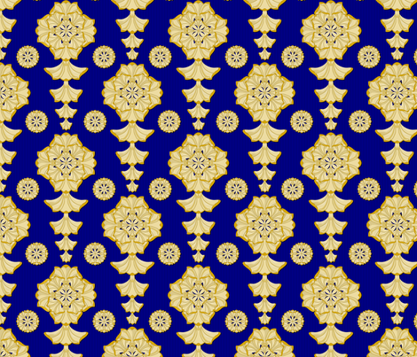 glorius_damask_czar fabric by glimmericks on Spoonflower - custom fabric