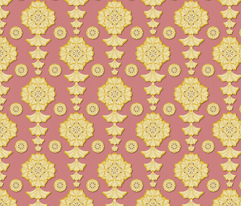 glorius_damask_pompadour fabric by glimmericks on Spoonflower - custom fabric