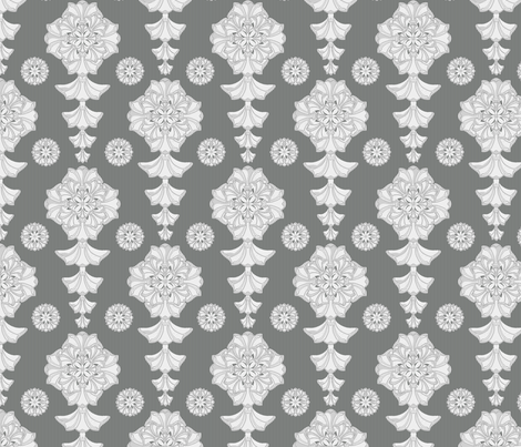 glorius damask palatial fabric by glimmericks on Spoonflower - custom fabric