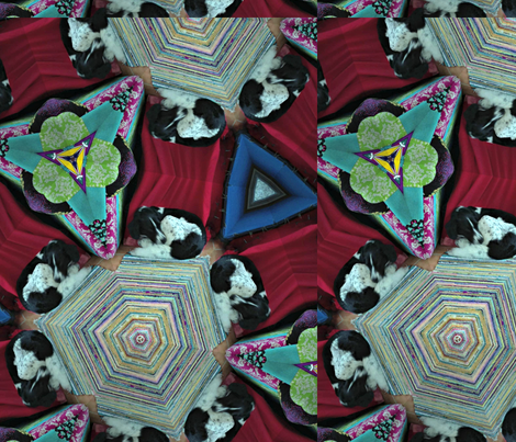 Kaleidoscope-Patch fabric by toby_rose on Spoonflower - custom fabric