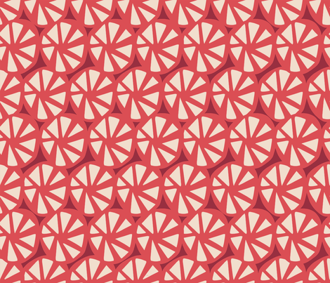 wheels red fabric by chicca_besso on Spoonflower - custom fabric