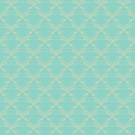 silverfishes aqua fabric by hemligdolls on Spoonflower - custom fabric