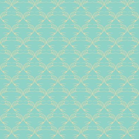 silverfishes aqua fabric by katarinakarsberg on Spoonflower - custom fabric