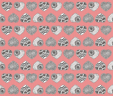 My Paper Valentine fabric by kfay on Spoonflower - custom fabric