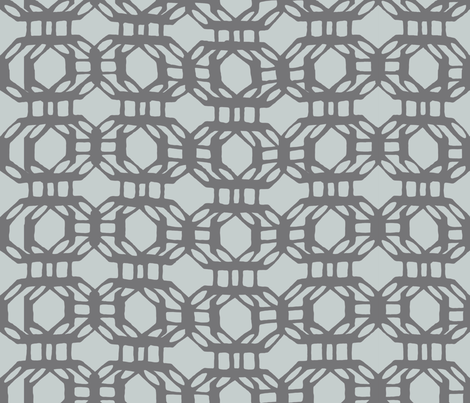 liquid_grid_gray fabric by chicca_besso on Spoonflower - custom fabric