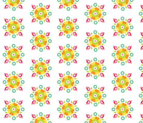 Oh Suzani Citrus Small Medallion fabric by heather_b_design on Spoonflower - custom fabric