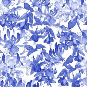 Tangled Garden - Blue &amp; White