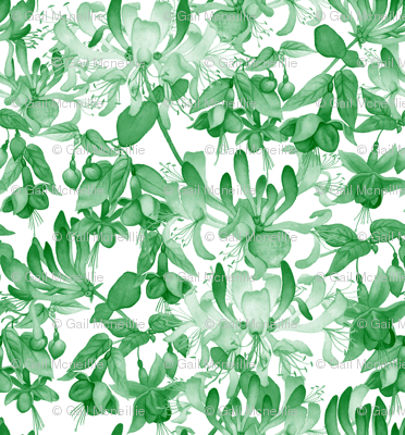 Tangled Garden - Green & White