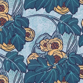 Art nouveau floral 