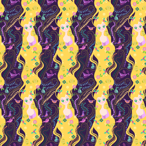 Rapunzel fabric by spicysteweddemon on Spoonflower - custom fabric