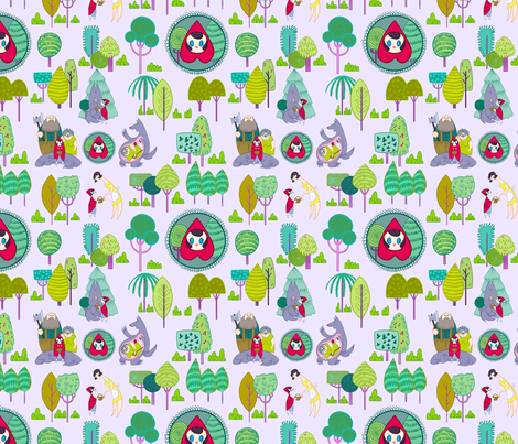 Little Red Riding Hood fabric by spicysteweddemon on Spoonflower - custom fabric