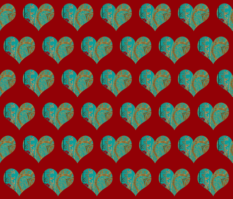 Blue, blue my heart is blue. fabric by anniedeb on Spoonflower - custom fabric