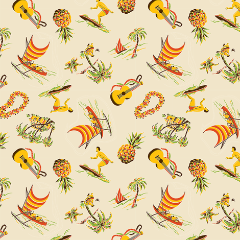 Hawaiiana 1b fabric by muhlenkott on Spoonflower - custom fabric