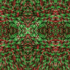 Wilderness in Green and Red