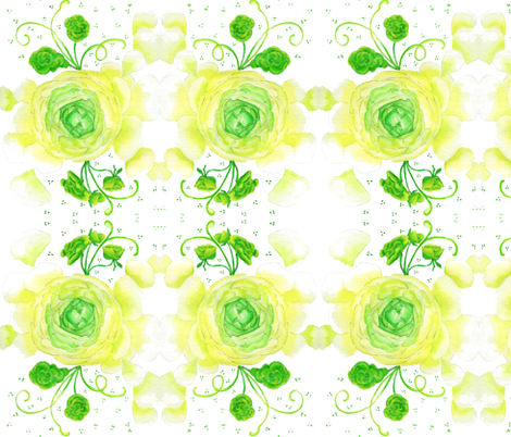 Ranunculus  fabric by a_designs on Spoonflower - custom fabric