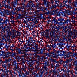 Wilderness in Red and Blue