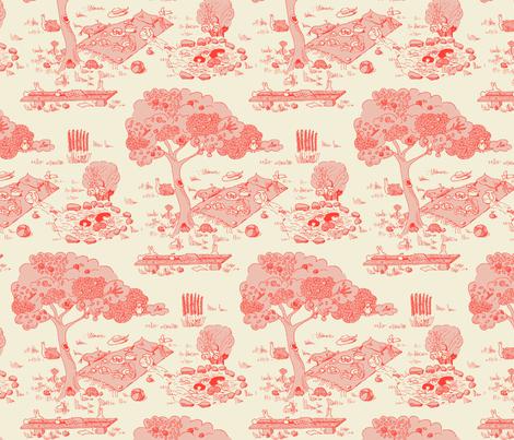 A fishy mystery - pink version fabric by domoshar on Spoonflower - custom fabric