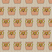 Retro Flora Owl