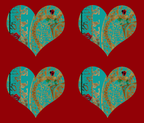 Designing Heart fabric by anniedeb on Spoonflower - custom fabric