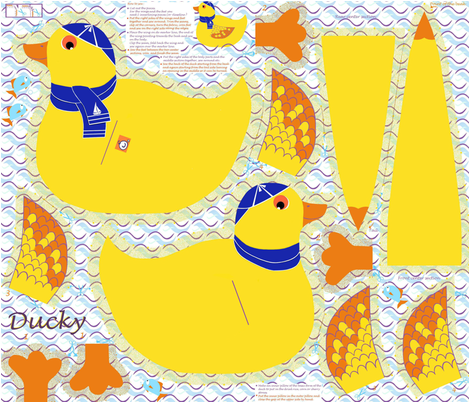Ducky,_the_cuddle_pet_pillow fabric by alfabesi on Spoonflower - custom fabric