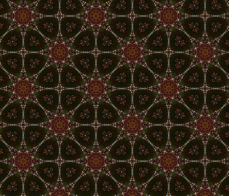 Macro Glittery Ornament Kaleidoscope fabric by fortunato_photography on Spoonflower - custom fabric