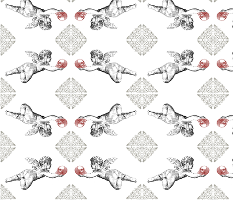 Cupidskull fabric by savagelystitched on Spoonflower - custom fabric