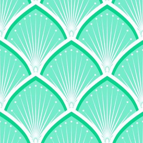 Scales & Suns - Art Deco - Green & Mint