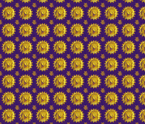 Thracian_medallion_royal fabric by glimmericks on Spoonflower - custom fabric