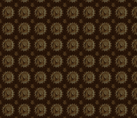 Thracian_medallion_bronze fabric by glimmericks on Spoonflower - custom fabric