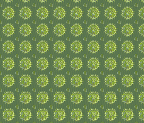 Thracian_medallion_pea fabric by glimmericks on Spoonflower - custom fabric
