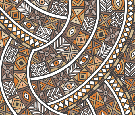 Oba Copper fabric by spellstone on Spoonflower - custom fabric